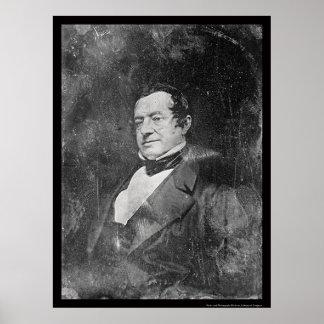 Washington Irving Daguerreotype 1855 Poster