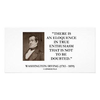Washington Irving Eloquence In True Enthusiasm Customized Photo Card