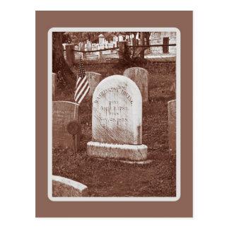 Washington Irving's tombstone Postcard