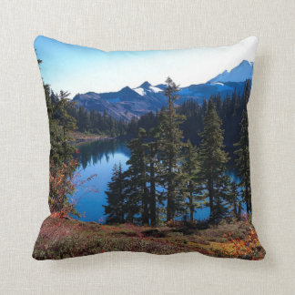 Washington landscape, beautiful nature throw pillow