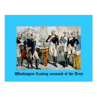 Washington Leaving command of the Army Postcard