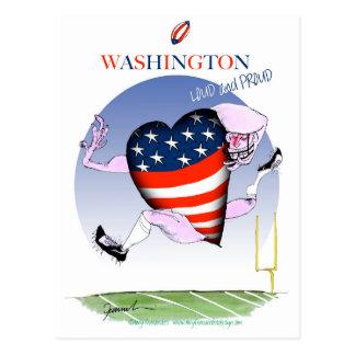Washington loud and proud, tony fernandes postcard