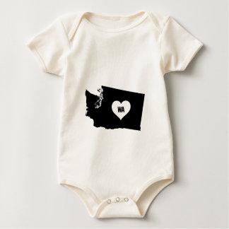 Washington Love Baby Bodysuit