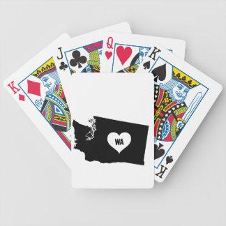 Washington Love Bicycle Playing Cards