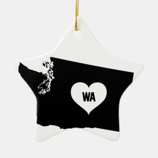 Washington Love Ceramic Ornament