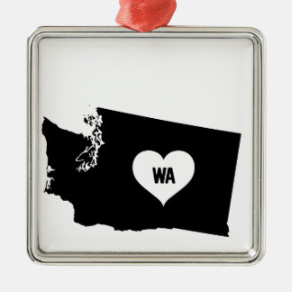 Washington Love Metal Ornament