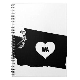 Washington Love Spiral Notebook