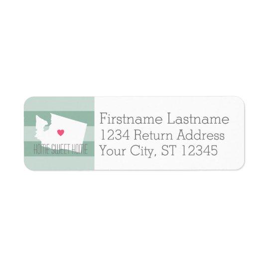 Washington Map Home State Love with Custom Heart