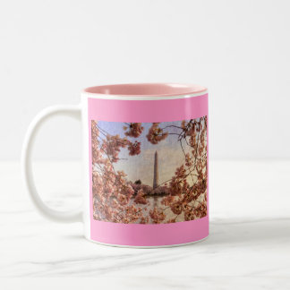 Washington Monument and Cherry Blossoms Mug