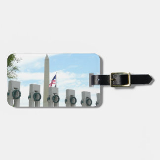 Washington Monument and WWII Memorial in DC Bag Tag