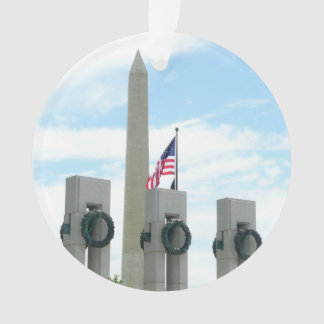 Washington Monument and WWII Memorial in DC Ornament