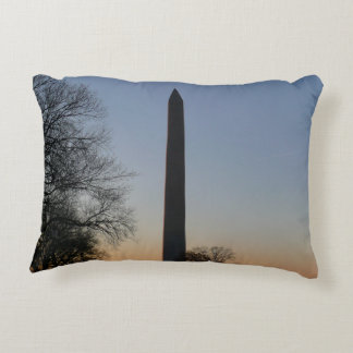Washington Monument at Sunset Accent Pillow