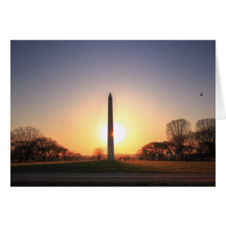 Washington Monument at Sunset Card