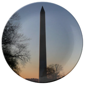 Washington Monument at Sunset Plate