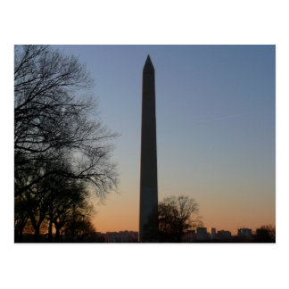 Washington Monument at Sunset Postcard