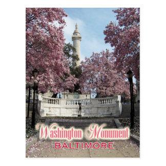 Washington Monument, Baltimore, Maryland Postcard