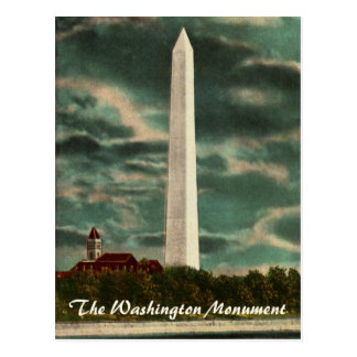 Washington Monument by Night Postcard