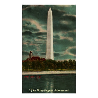 Washington Monument by Night Poster