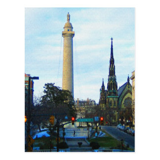 Washington Monument Historic Neighborhood Postcard