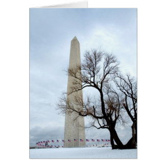 Washington Monument in Winter Card