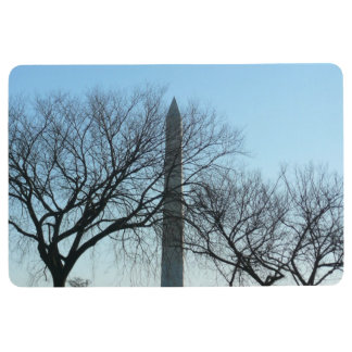 Washington Monument in Winter I Travel Photography Floor Mat