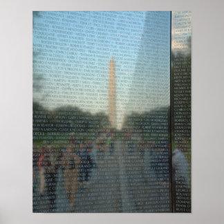 Washington Monument Reflection 11x14 Poster