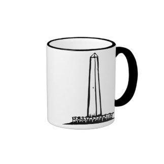Washington Monument Ringer Coffee Mug