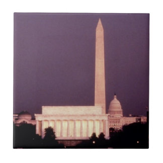Washington Monument, the Capitol and Jefferson Tile