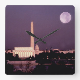 Washington Monument, the Capitol and Jefferson Wall Clock
