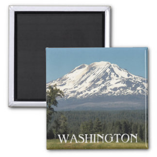 Washington Mount Adams Photo Square Magnet