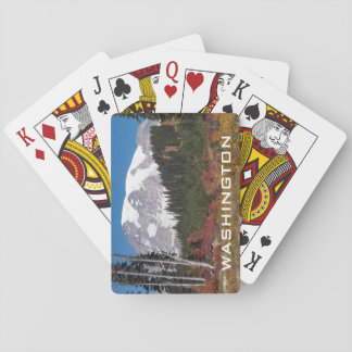 Washington Mount Rainier Photo Playing Cards