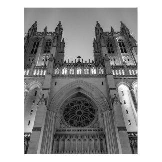 Washington National Cathedral on a foggy night Letterhead Design