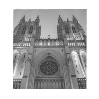 Washington National Cathedral on a foggy night Notepads