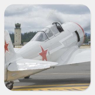 Washington, Olympia, airshow militaire. 6 Autocollants Carrés