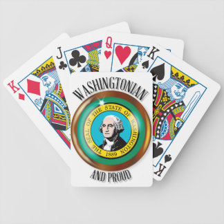 Washington Proud Flag Button Bicycle Playing Cards