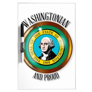 Washington Proud Flag Button Dry Erase Board