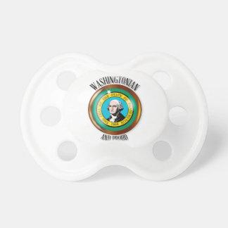 Washington Proud Flag Button Pacifiers