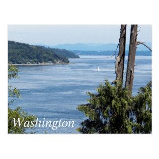 Washington Puget Sound Travel Postcard