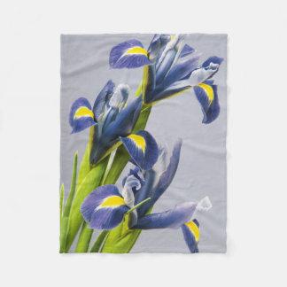 Washington, Redmond, Purple Irises Fleece Blanket