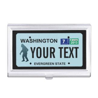 Washington Sasquatch License Plate Business Card Holders