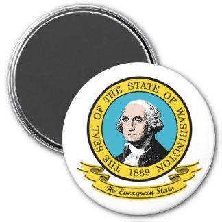 Washington Seal 3 Inch Round Magnet