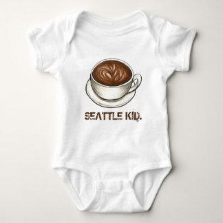 Washington SEATTLE KID Coffee Cup Latte Baby Bodysuit