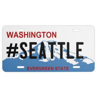 Washington Seattle license plate