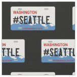 Washington Seattle license plate fabric