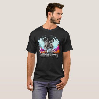 Washington Skulls and Angel wings T-Shirt
