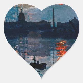 Washington Skyline1 Heart Sticker