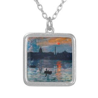 Washington Skyline1 Silver Plated Necklace