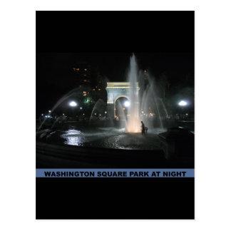 Washington Square Park at Night, NYC Postcard