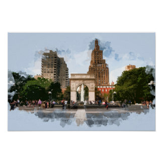 Washington Square Park  in Greenwich Village NYC Poster