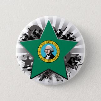 Washington Star 2 Inch Round Button